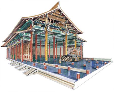 明代称为奉天殿的太和殿,为中国现存最巨大的宫殿建筑,面宽十一开间图片